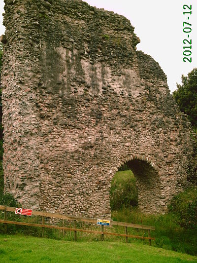 Lochmaben Castle wall and arch
